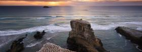 free rocky waters nature facebook cover