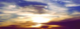 free sunset sky nature facebook cover