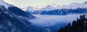 free snow on hills nature facebook cover