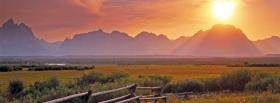 free sunset in valley nature facebook cover