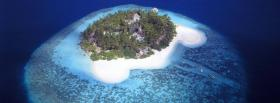 free aerial view island nature facebook cover