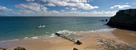 free tenby beach nature facebook cover