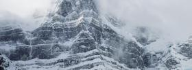 free white mountain nature facebook cover