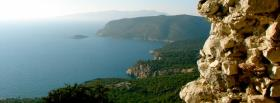 free rocky forest ocean nature facebook cover