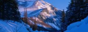 free snowy mountain nature facebook cover