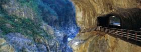free tunnel in nature facebook cover