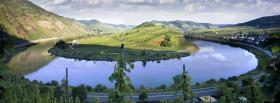 free round river nature facebook cover