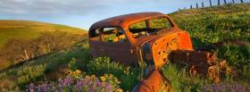 free old junk car nature facebook cover