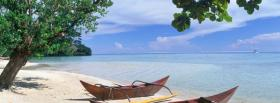 free two boats beach nature facebook cover