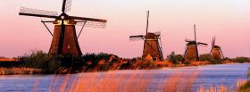 free windmills nature facebook cover