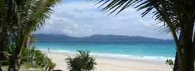 free palm trees blue ocean facebook cover