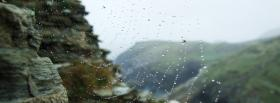 free spider web and rain facebook cover