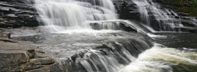 free waterfalls rocks nature facebook cover