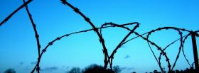 free wired fence nature facebook cover
