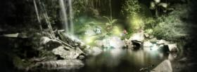 free pond in woods nature facebook cover