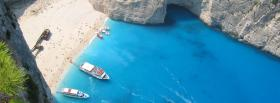 free two boats rocks nature facebook cover