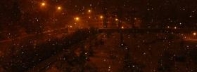 free snowy night nature facebook cover