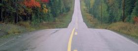free street in the forest facebook cover