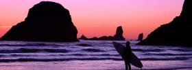 free surf sunset nature facebook cover