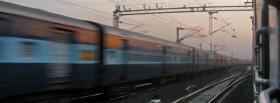free train sky nature facebook cover