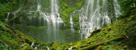 free splendid waterfalls nature facebook cover