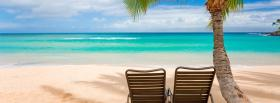 free two seats beach nature facebook cover