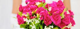 free pink bouquet nature facebook cover