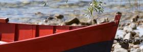 free red little boat nature facebook cover