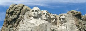 free rushmore south dakota nature facebook cover