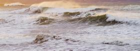 free strong ocean waves nature facebook cover
