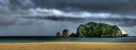 free storm over island nature facebook cover