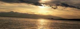 free sunset sea nature facebook cover