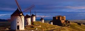 free windmills and mountains nature facebook cover