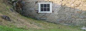 free old house in nature facebook cover