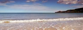 free smooth waves beach nature facebook cover