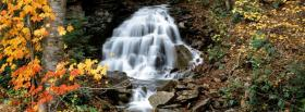free waterfall in woods nature facebook cover