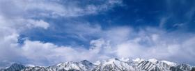 free sky and mountain peaks facebook cover