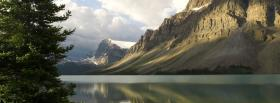 free tall mountains water nature facebook cover
