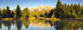 free pines white mountain nature facebook cover