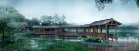free rain in japan nature facebook cover