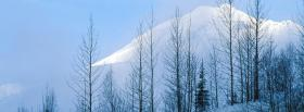 free snow mountain nature facebook cover