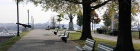 free relaxing pathway nature facebook cover