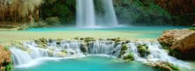 free waterfall paradise nature facebook cover