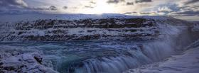 free winter waterfalls nature facebook cover