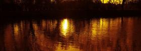 free sunset lake nature facebook cover