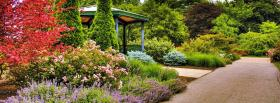 free wonderful garden nature facebook cover