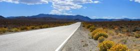 free road and dry land facebook cover