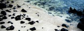 free sand dark rocks nature facebook cover