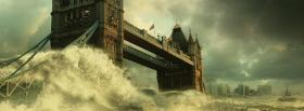 free strong waves nature facebook cover