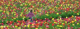 free runing in garden nature facebook cover